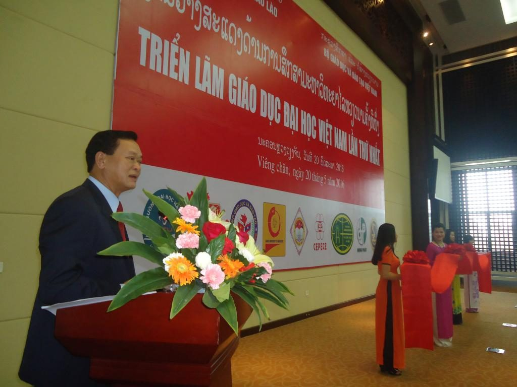 Mr. Kongsy Sengmany, Deputy Minister, Ministry of Education and Sports, Laos PDR delivering opening speech