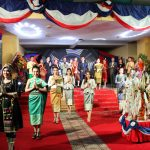 Lao overseas students in traditional costumes